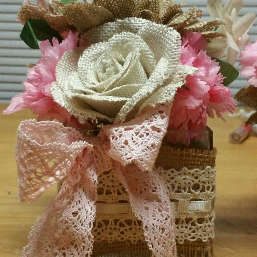 Burlap and pink