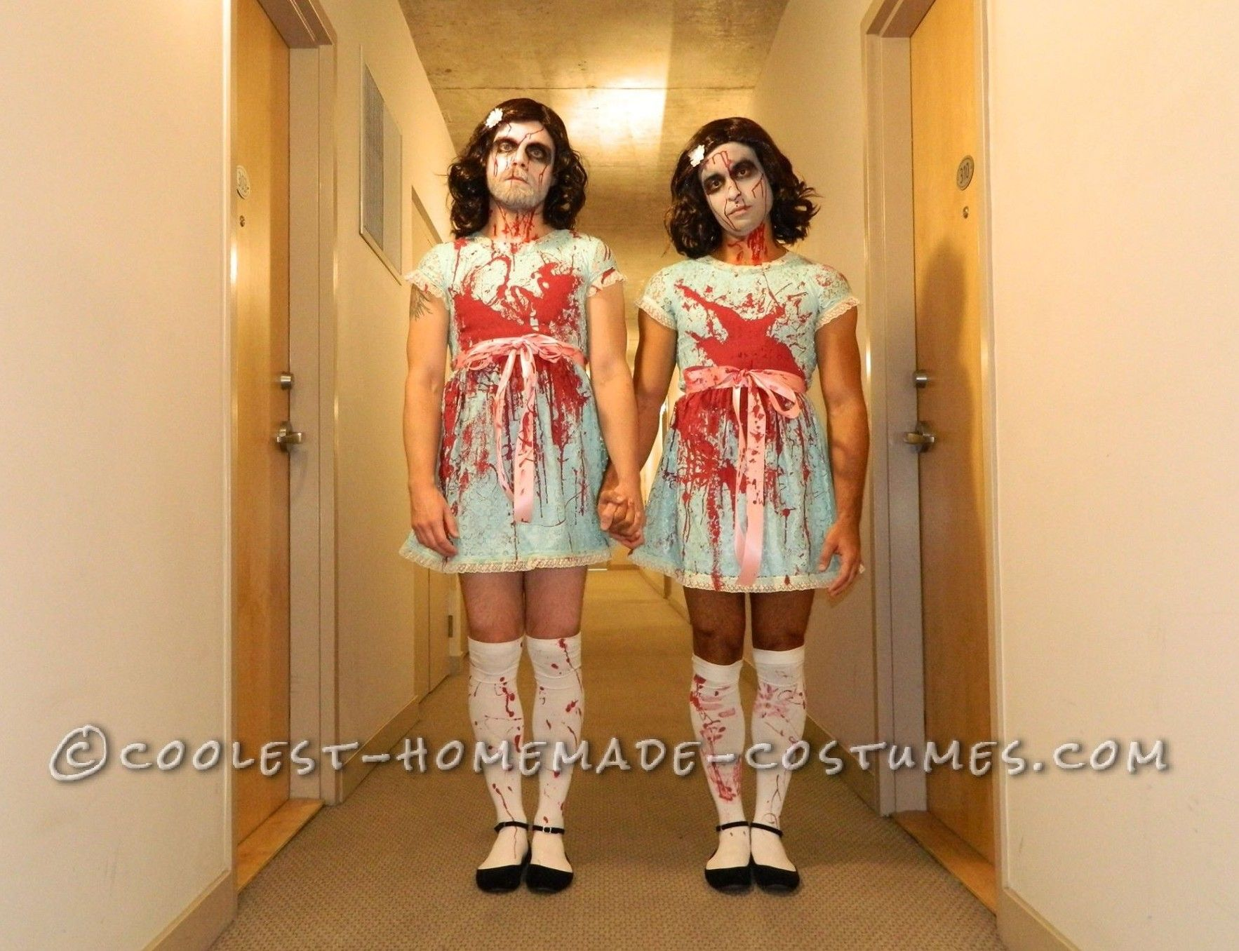 Homemade Scary Shining Sisters Couple Costume   Costumes, Homemade ...