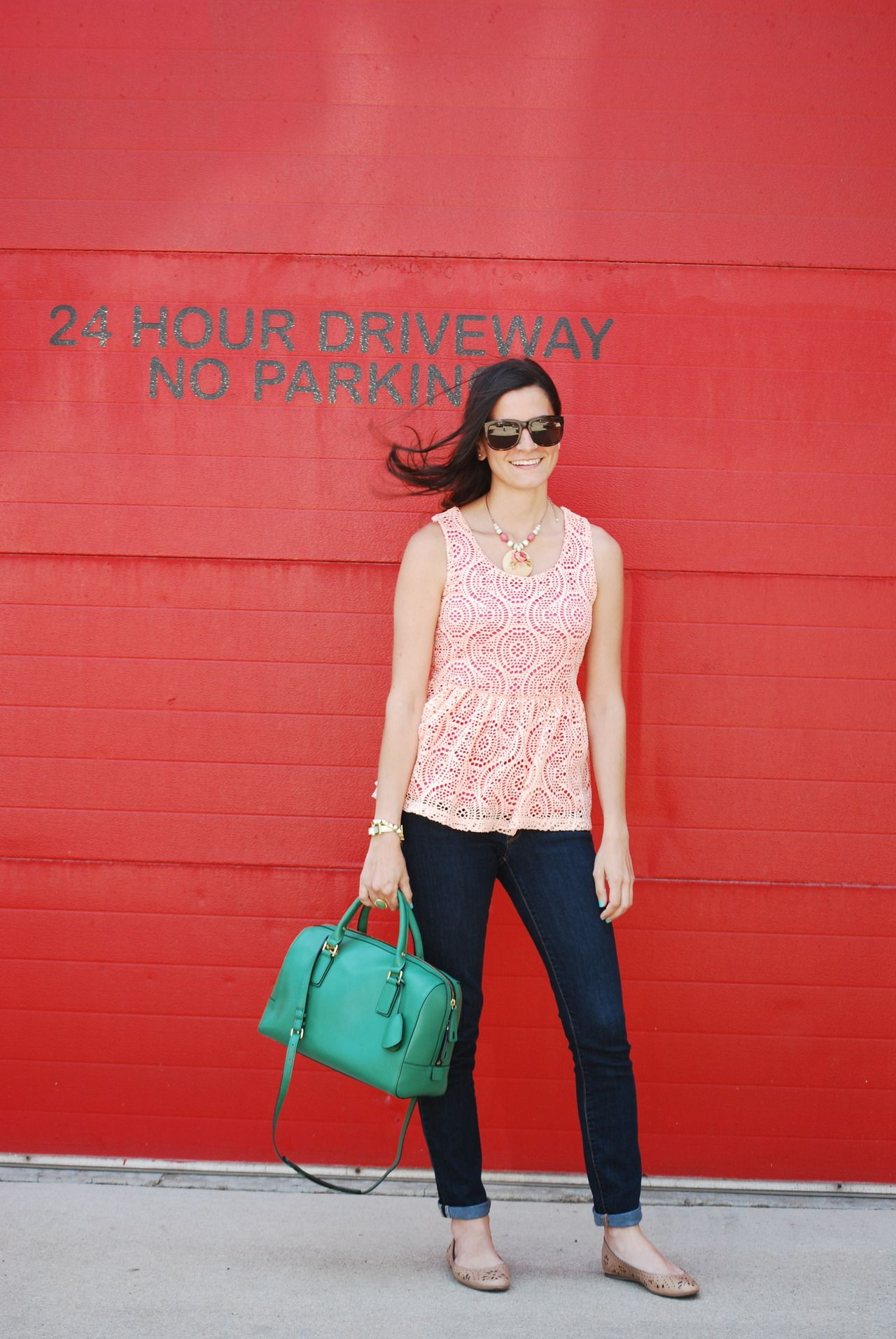 A pair of Gap jeans and flats as featured on the blog @Peggy.