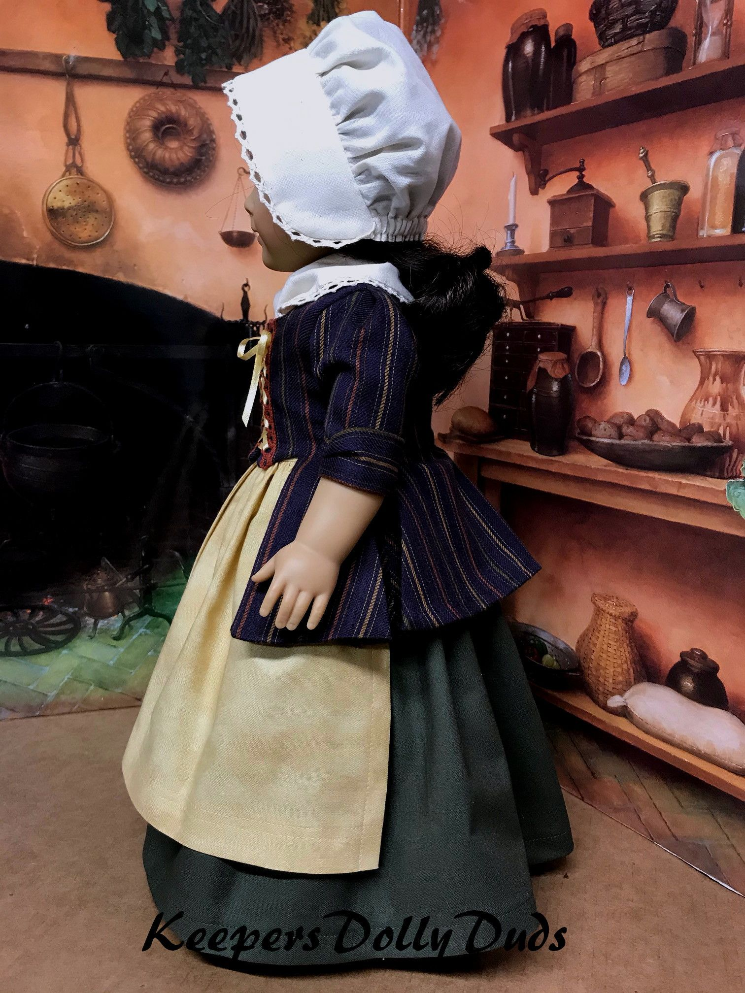 5 pc.Fall Colonial Work Day Outfit #colonialdolldresses