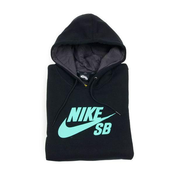 Nike SB Foundation Icon Hoodie, BlackCrystal Mint ($44