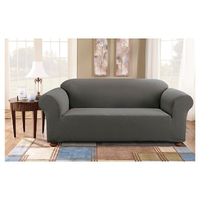 stretch subway sofa slipcover carbon gray sure fit products rh pinterest com