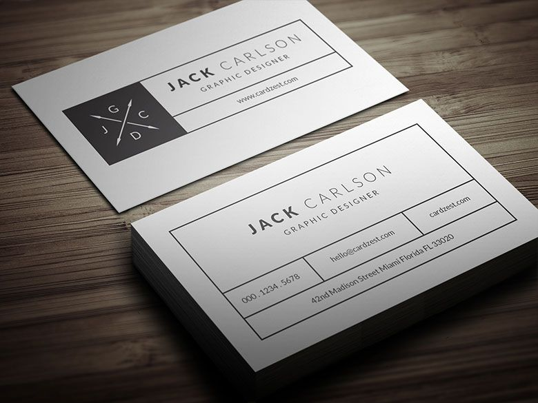 Clean & Simple Individual Business Card Template | Free ...
