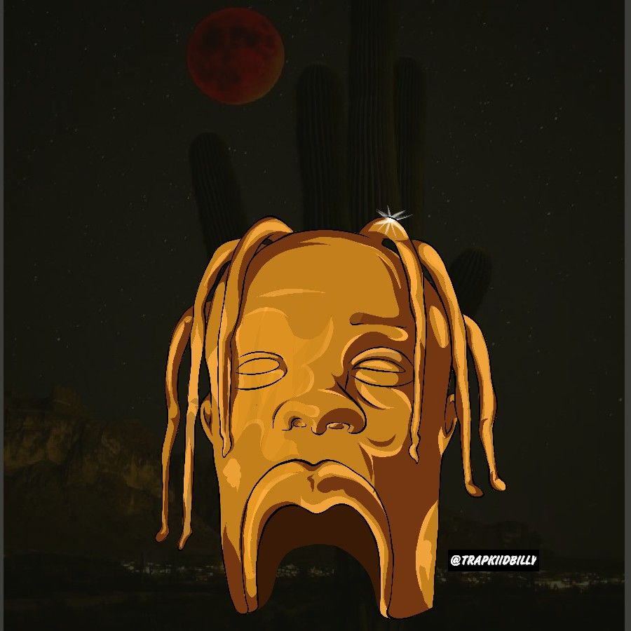 e3d10690057c TRAVIS SCOTT ASTRO WORLD ART COVER HEAD #sickomode art by #trapkiidbilly