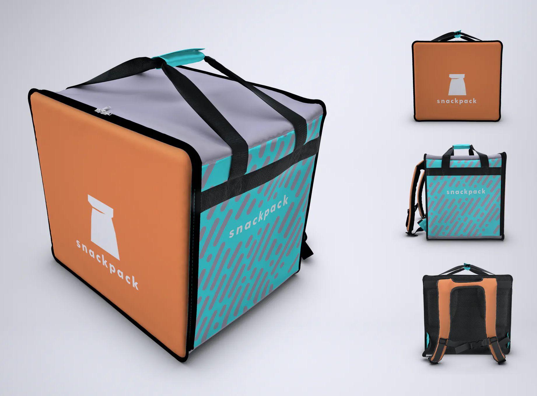 Download Food Delivery Backpack Mockup Psd Food Delivery Free Food Delivery Bag Mockup