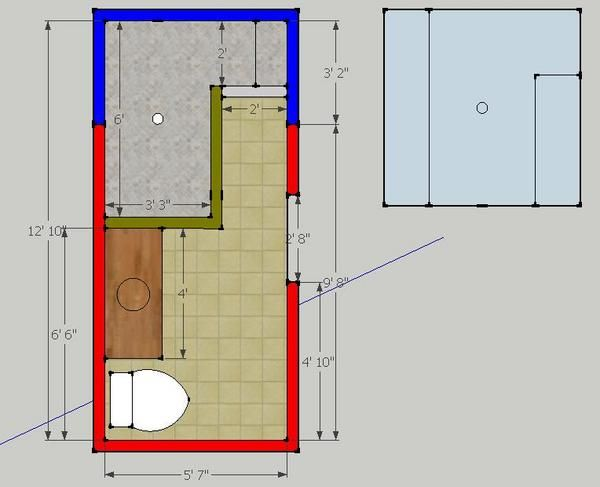 Alan just some designs to look at a few doorless shower for Walk in shower plans and specs