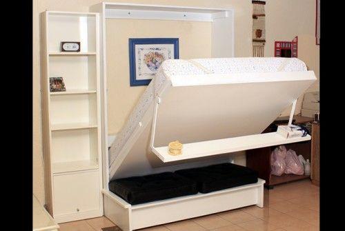 Cama abatible murphy bed pinterest camas abatibles for Futon cama de dos plazas