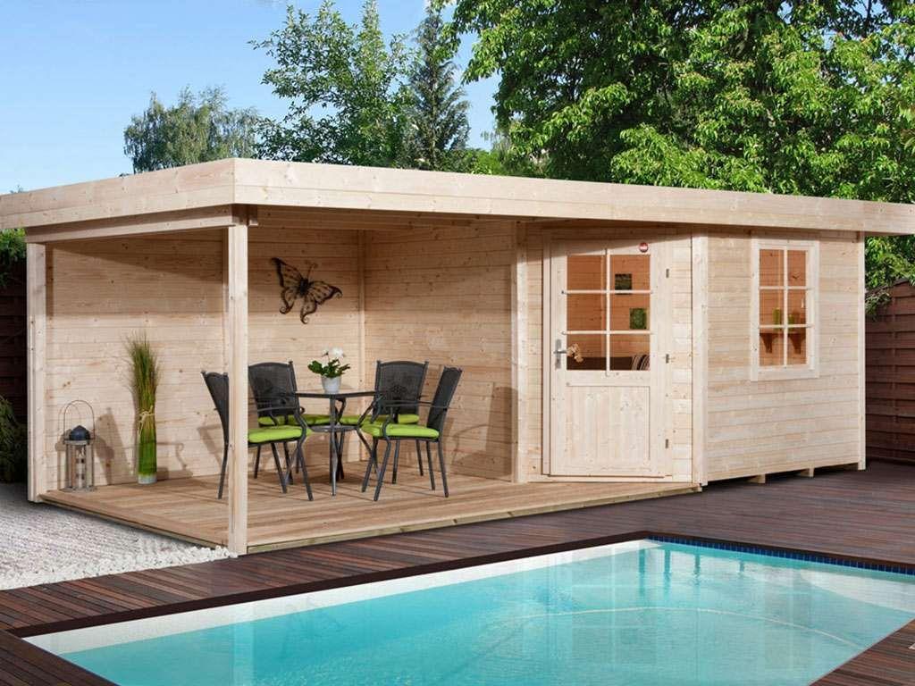 Gartenhaus Designhaus 213 B Gr 1 28 Mm Naturbelassen Weka Gartenhaus Gartenhaus Mit Terrasse Gartenhaus