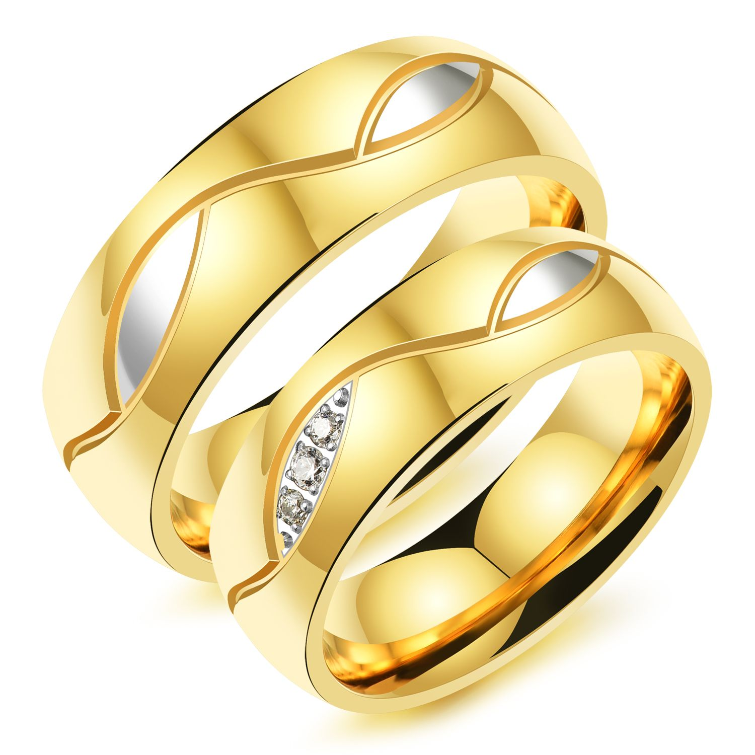 wedding steel font korean stainless golden design ring with b unique korea style rings leaf cute gold