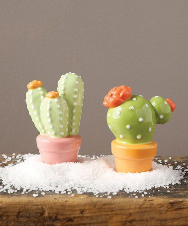 Another great find on #zulily! Ceramic Cacti Salt & Pepper Shakers #zulilyfinds