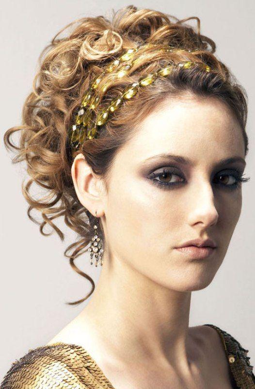 Styling Lockar Haarband Griechische Frisuren Frisuren Frisur Mit Band