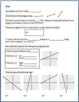 Slope (Guided Notes)