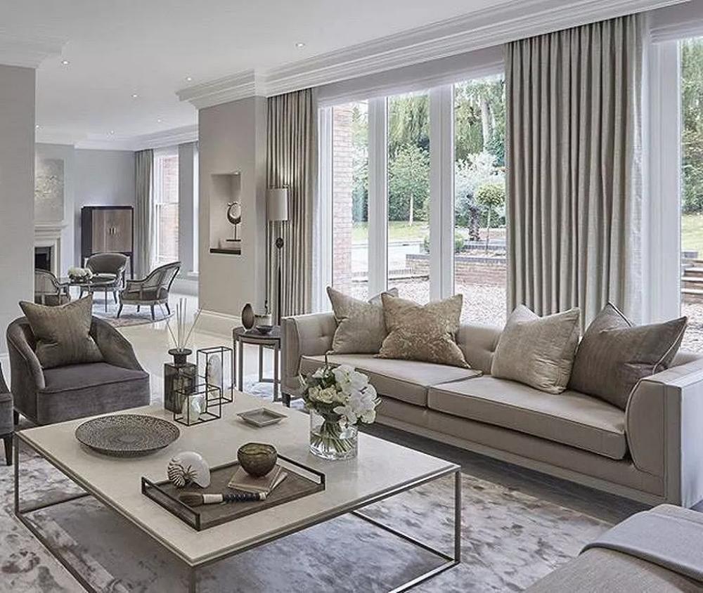 30 Modern Curtain For Your Living Room Ideas 9 | Elegant ...