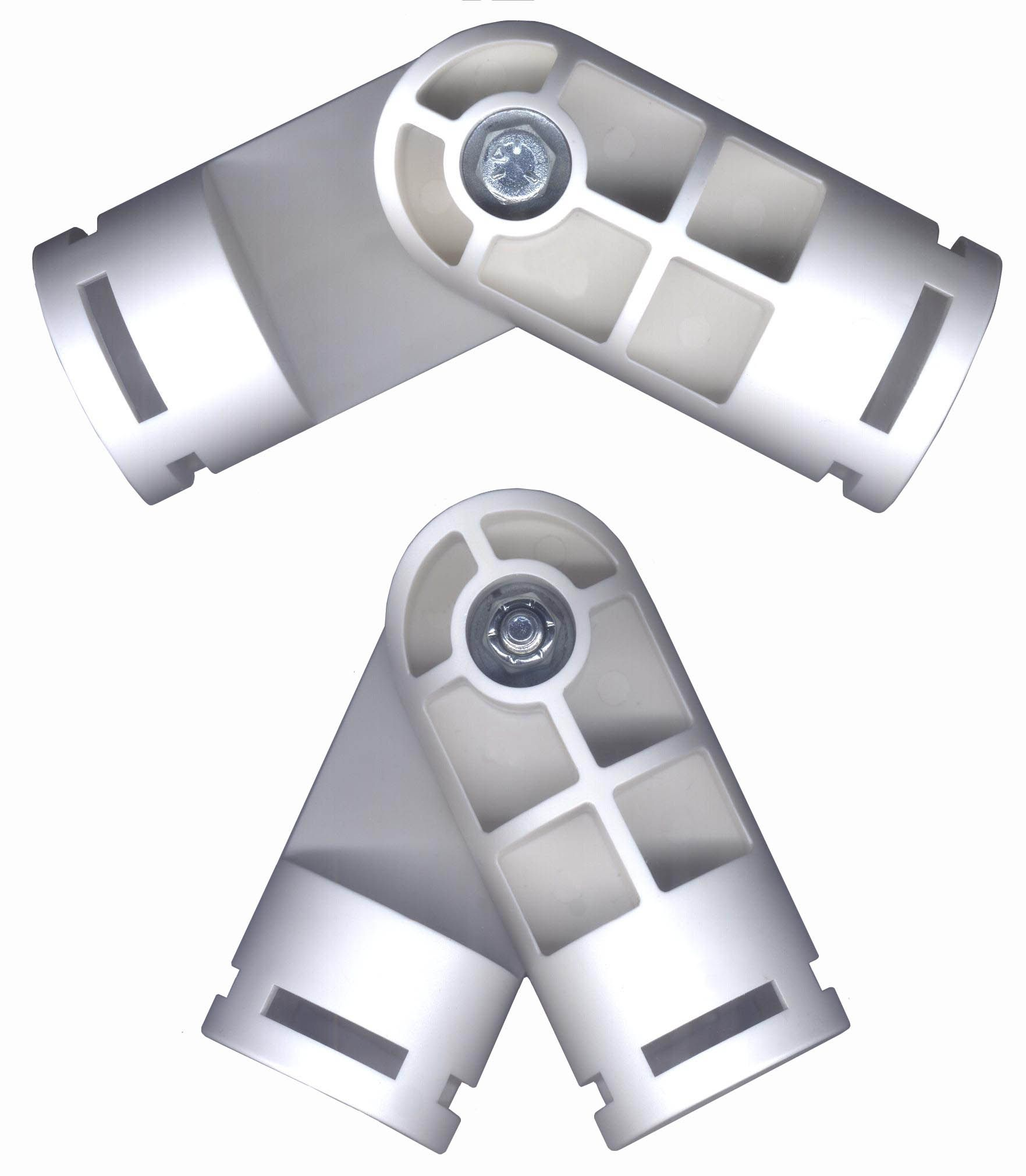 White pvc fittings creative shelters adjustable joint