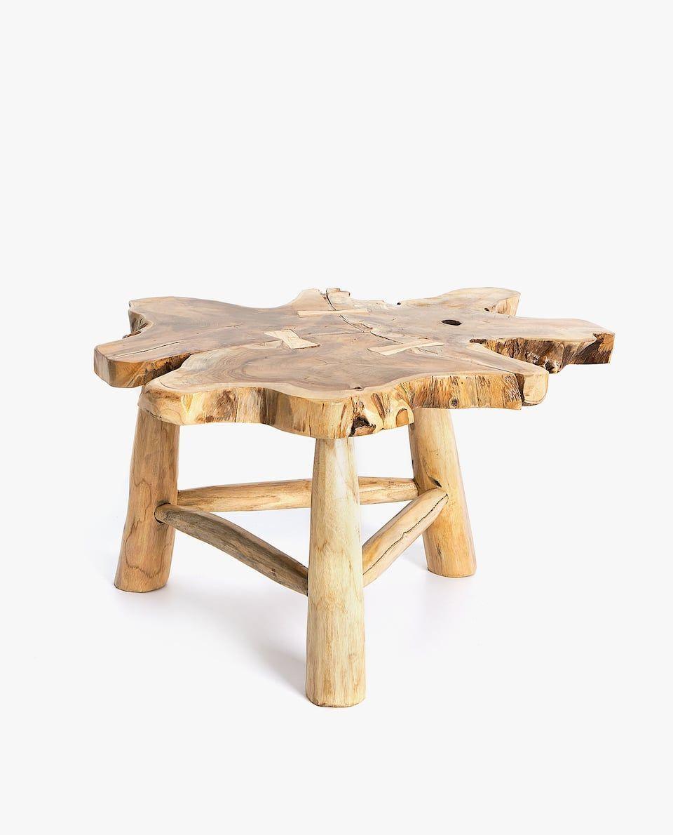 Zara Home Accessories United Kingdom Irregular Teak Wooden Table