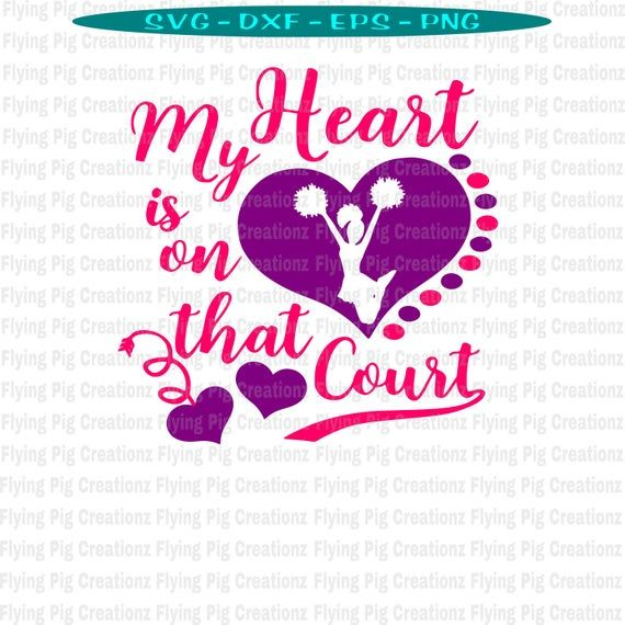 Download My Heart is on that Court svg, Cheer svg, Chearleading svg ...