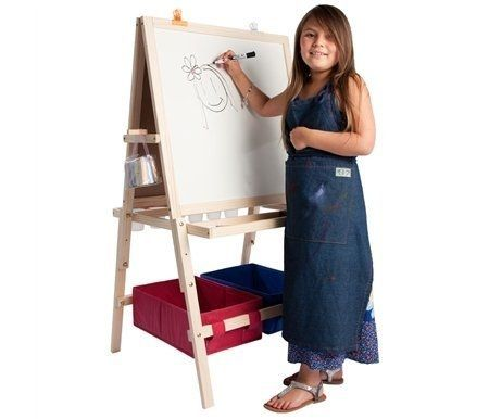 Kids Easel   Chalkboard And Dry Erase Easel W/ Storage Bins
