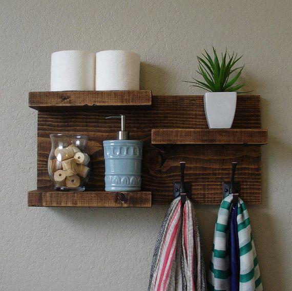 modern rustic 3 tier bathroom shelf modern rustic and shelves. Black Bedroom Furniture Sets. Home Design Ideas