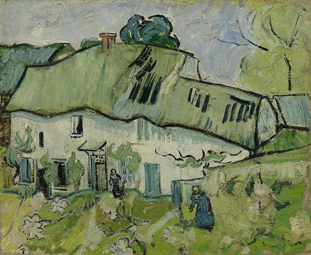 Farmhouse with Two Figures, Vincent van Gogh http://www.vangoghgallery.com/catalog/Painting/127/Farmhouse-with-Two-Figures.html (Source: Flickr via Michéle W: Thx!)