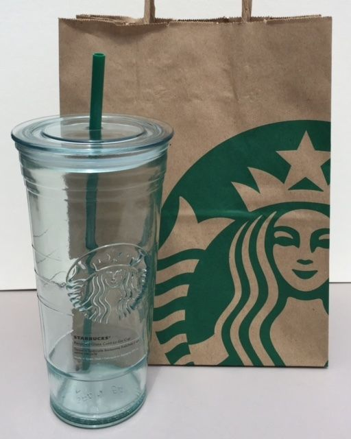 Starbucks Recycled Glass Cold To Go Cup 20oz New