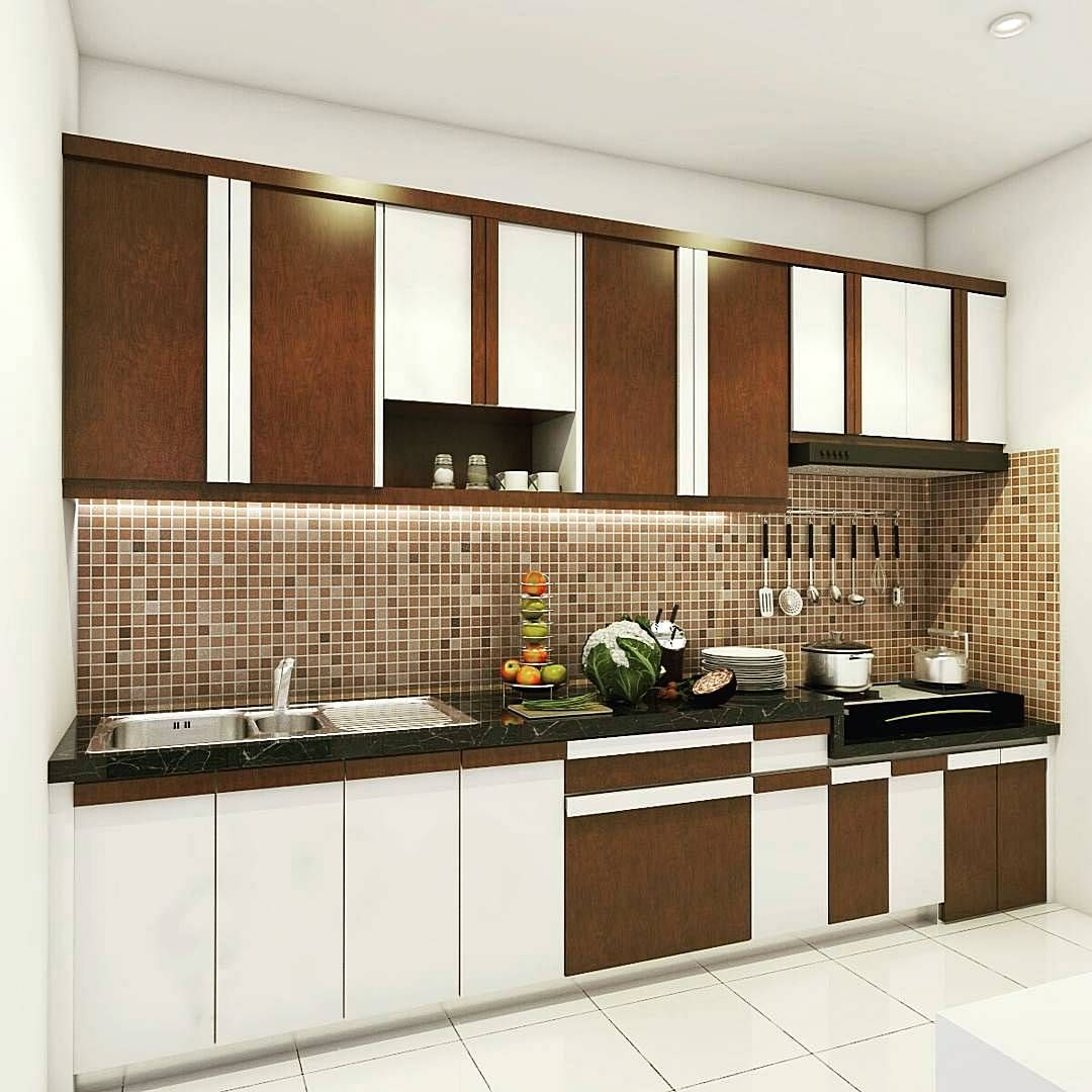 Desain Kitchen Set Hijau: Kitchen Set Minimalis Modern Sederhana