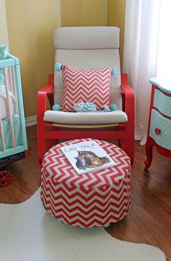 diy poang chair hack using red paint kind pinterest kinderzimmer sessel und kinder zimmer. Black Bedroom Furniture Sets. Home Design Ideas