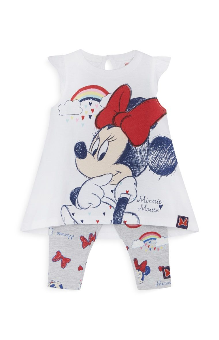 Primark ensemble minnie mouse nouveau n x2 baby girl v tements b b robe fillette et bebe - Coloriage minnie robe ...