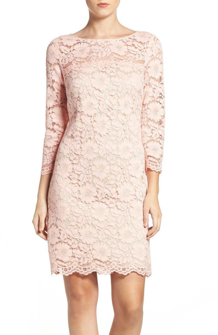 Vince Camuto Lace Sheath Dress Regular Petite Nordstrom Short Lace Dress Cocktail Dress Lace Sheer Lace Dress [ 1318 x 860 Pixel ]