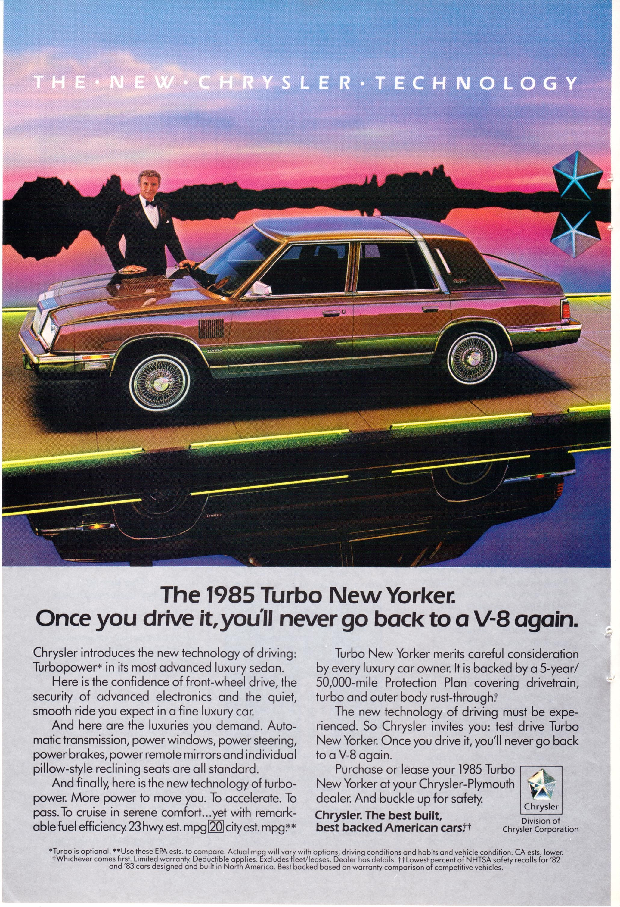 1985 Chrysler New Yorker Turbo National Geographic March 1985