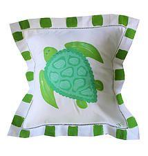 Lemondaisy Design Beach Art & Gifts | Linen Pillows Sea Turtle
