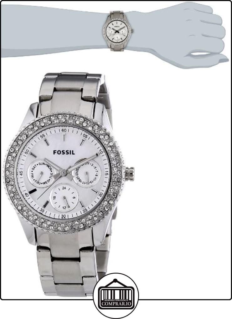 ef102db3f078 Fossil ES2860 - Reloj analógico de cuarzo para mujer con correa de acero  inoxidable