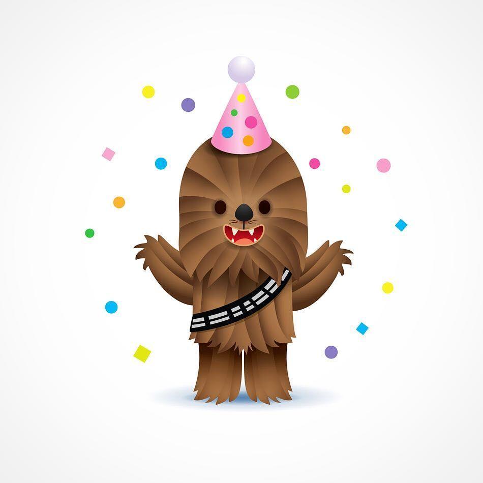 Wishing The Wookiee A Wonderful Day Happy Birthday Thewookieeroars Starwars Chew Happy Birthday Disney Happy Birthday Illustration Star Wars Happy Birthday