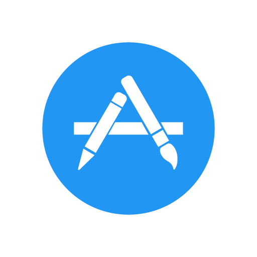 Apple App Store vector logo (.EPS + .AI + .SVG) download