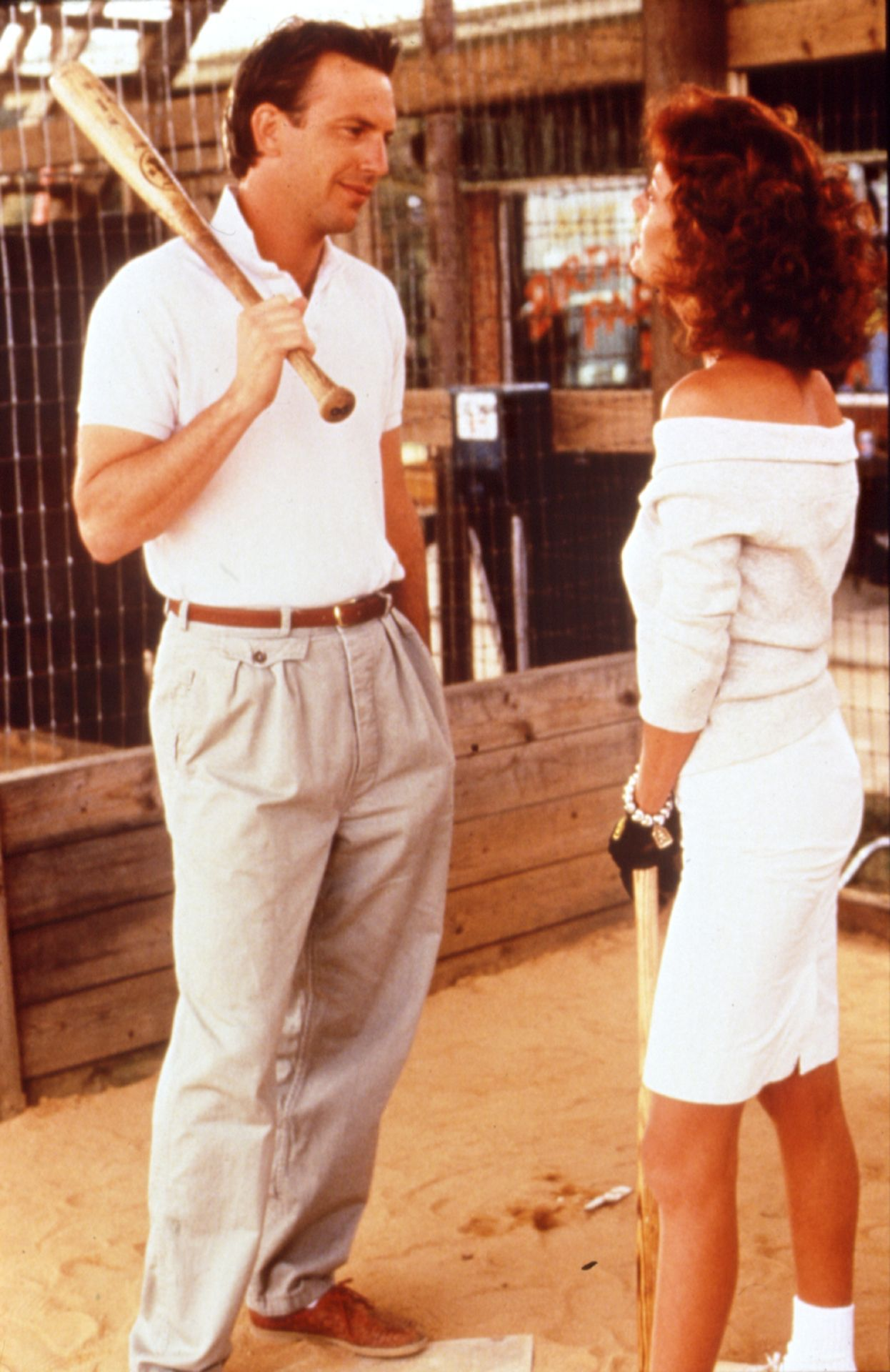 """""""Bull Durham"""" movie still, 1988. L to R Kevin Costner"""
