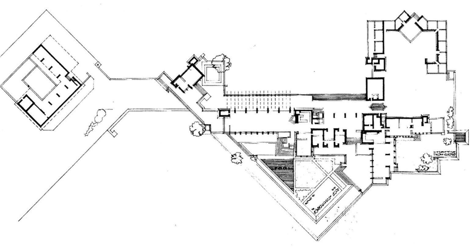 Frank Lloyd Wright S Taliesin West Floor Plan In Arizona