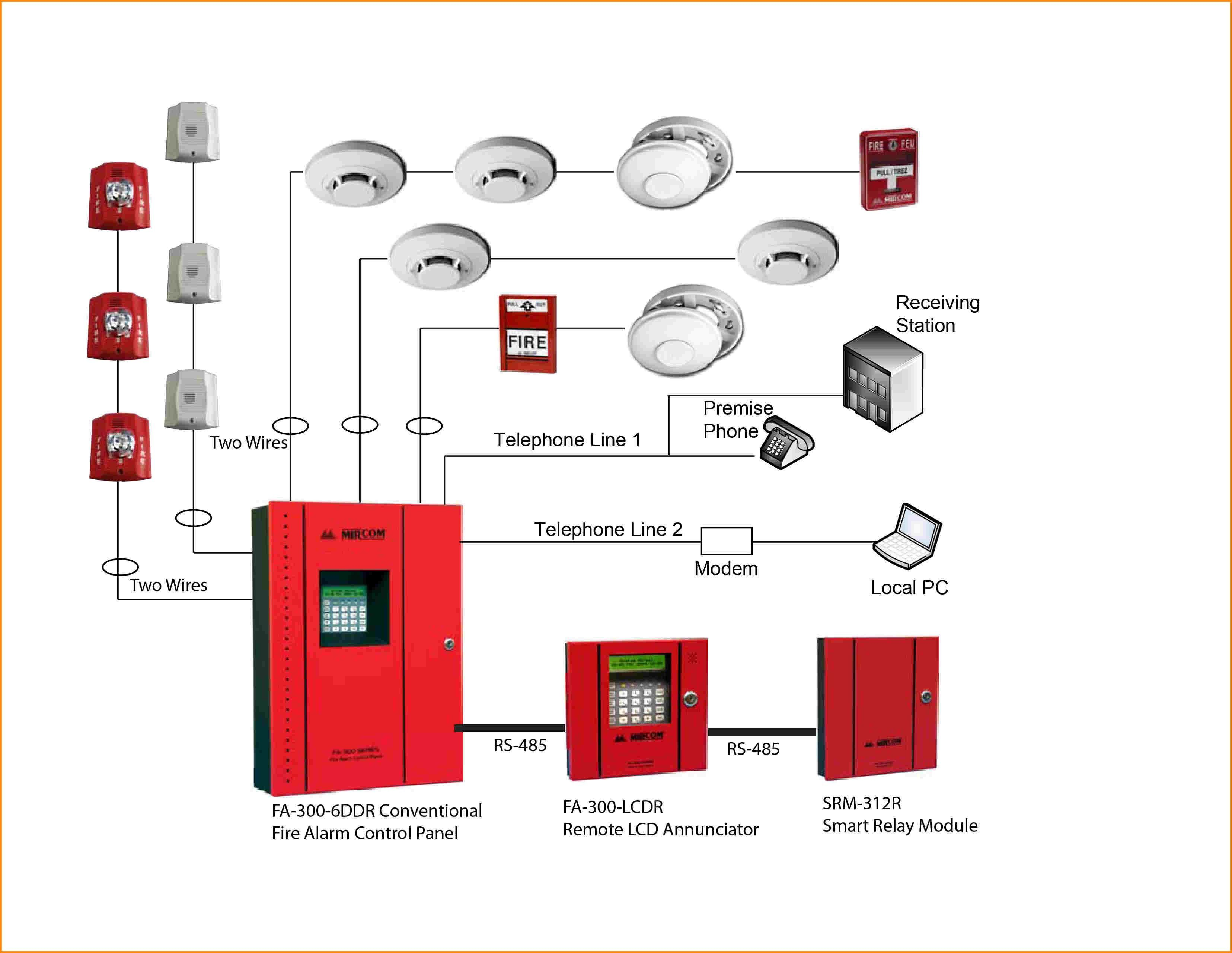 Wiring Diagram For A Simple Fire Alarm System Best Of Amazing Incredible   Fire Alarm System