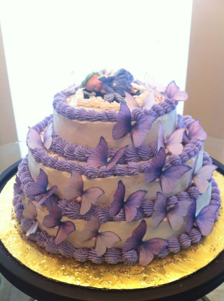 Butterfly Baby Shower Cake For My Cousin Butterfly Baby