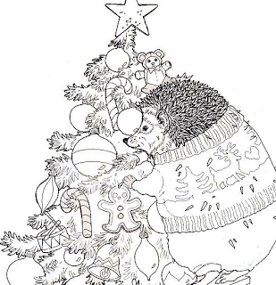 My Mommy Reads Hellooo Jan Brett Christmas Coloring Pages Coloring Pages Jan Brett