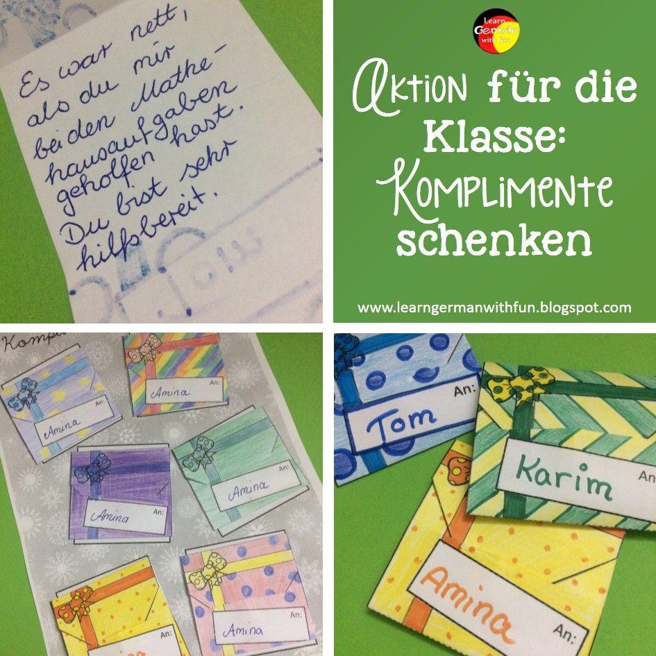 Aktion für ein gutes Klassenklima in der Grundschule. | DaF / DaZ ...