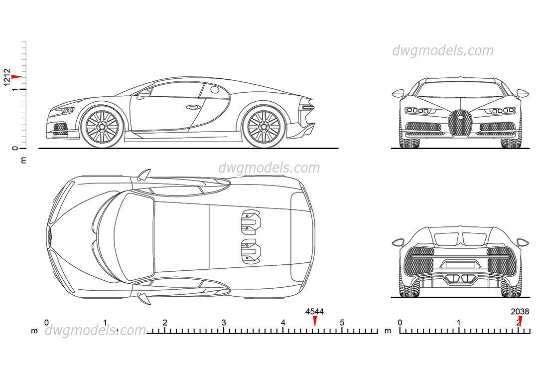 Bugatti chiron 2016 cad blocks free dwg file cars pinterest bugatti chiron 2016 cad blocks free dwg file malvernweather Gallery