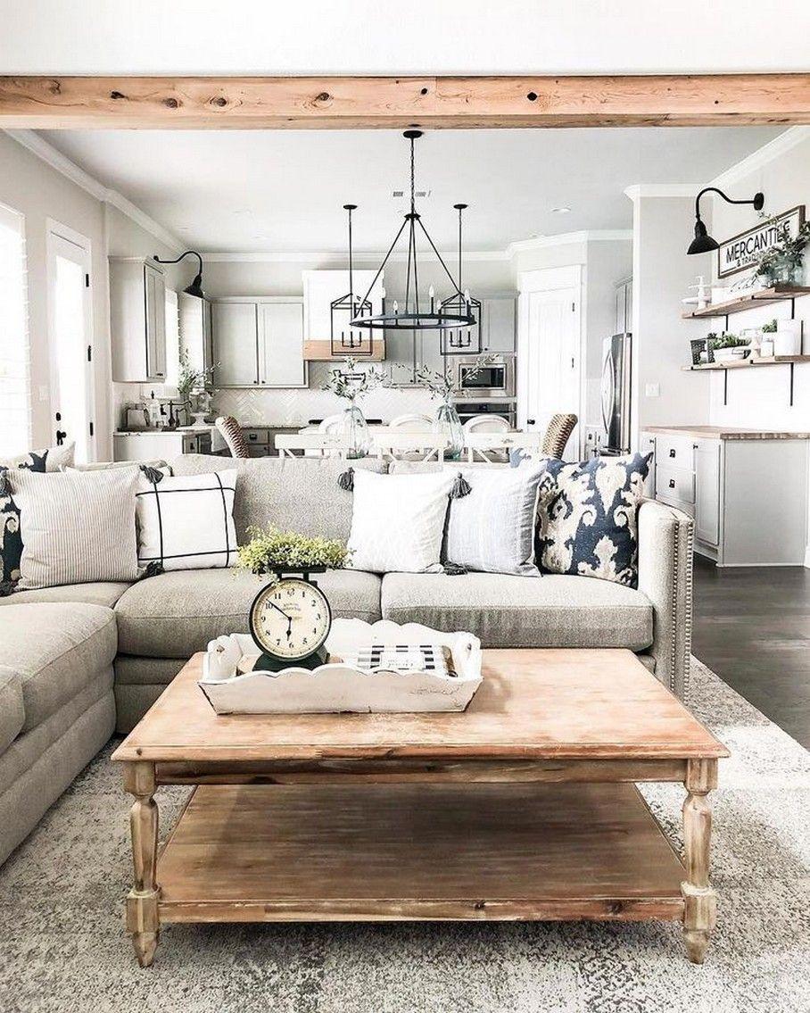 45 best farmhouse decorating ideas that inspire you 16 | fikriansyah.net in  2020 | Farmhouse decor living room, Livingroom layout, Farm house living  room