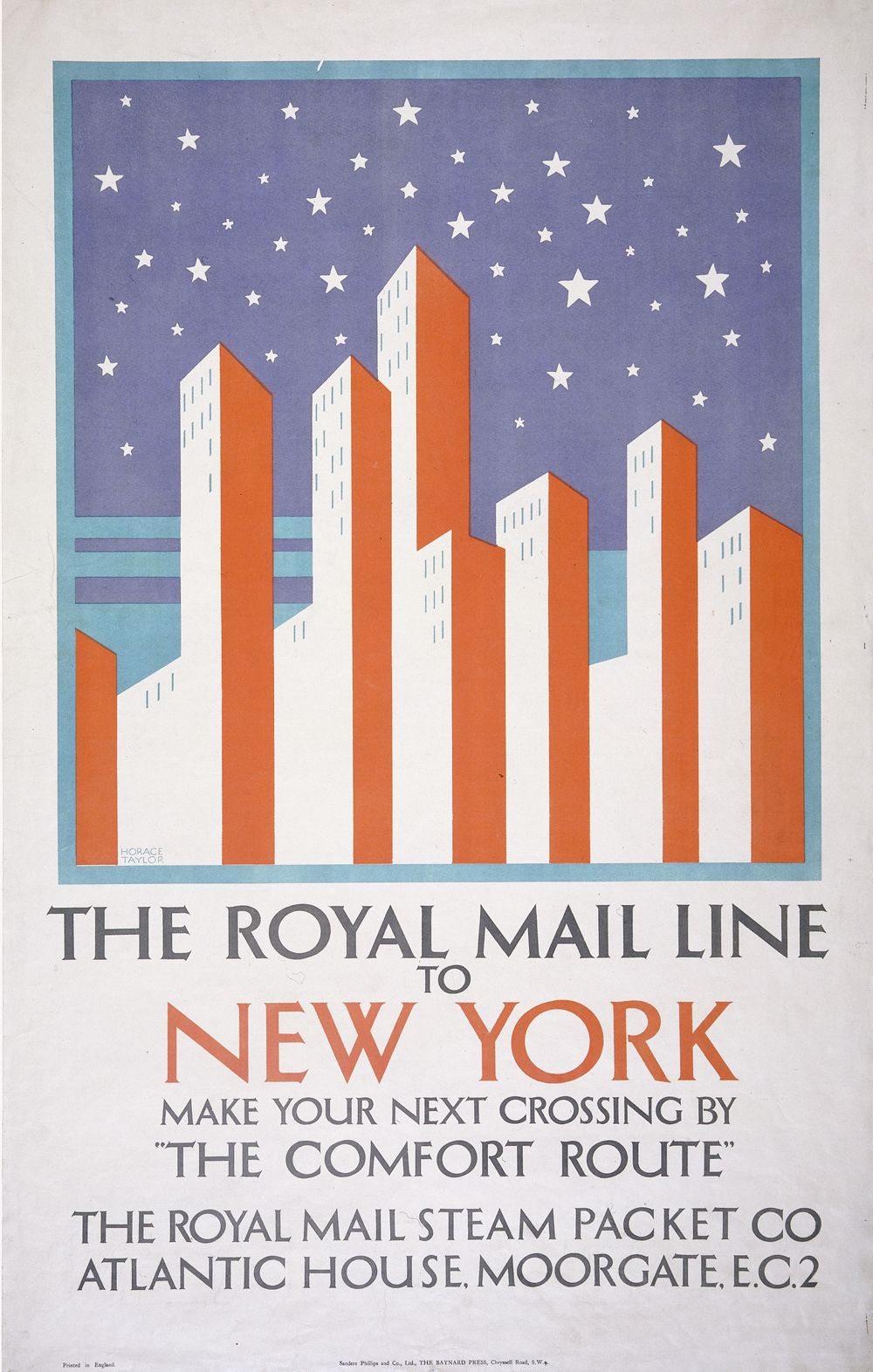 Poster design new york - The Royal Mail Line To New York Poster Horace Taylor 1920 1925