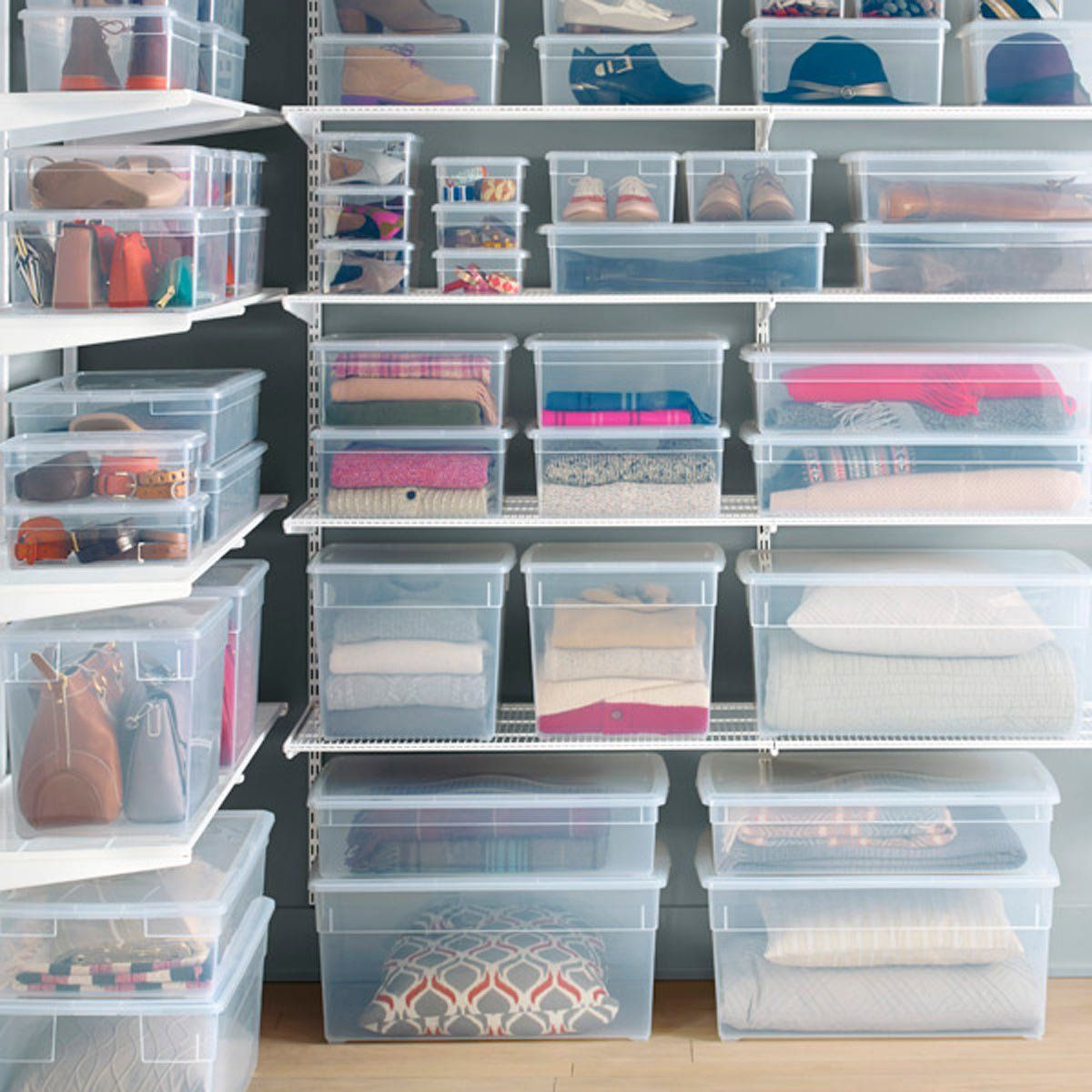 why we love clear storage bins | organization tips & storage