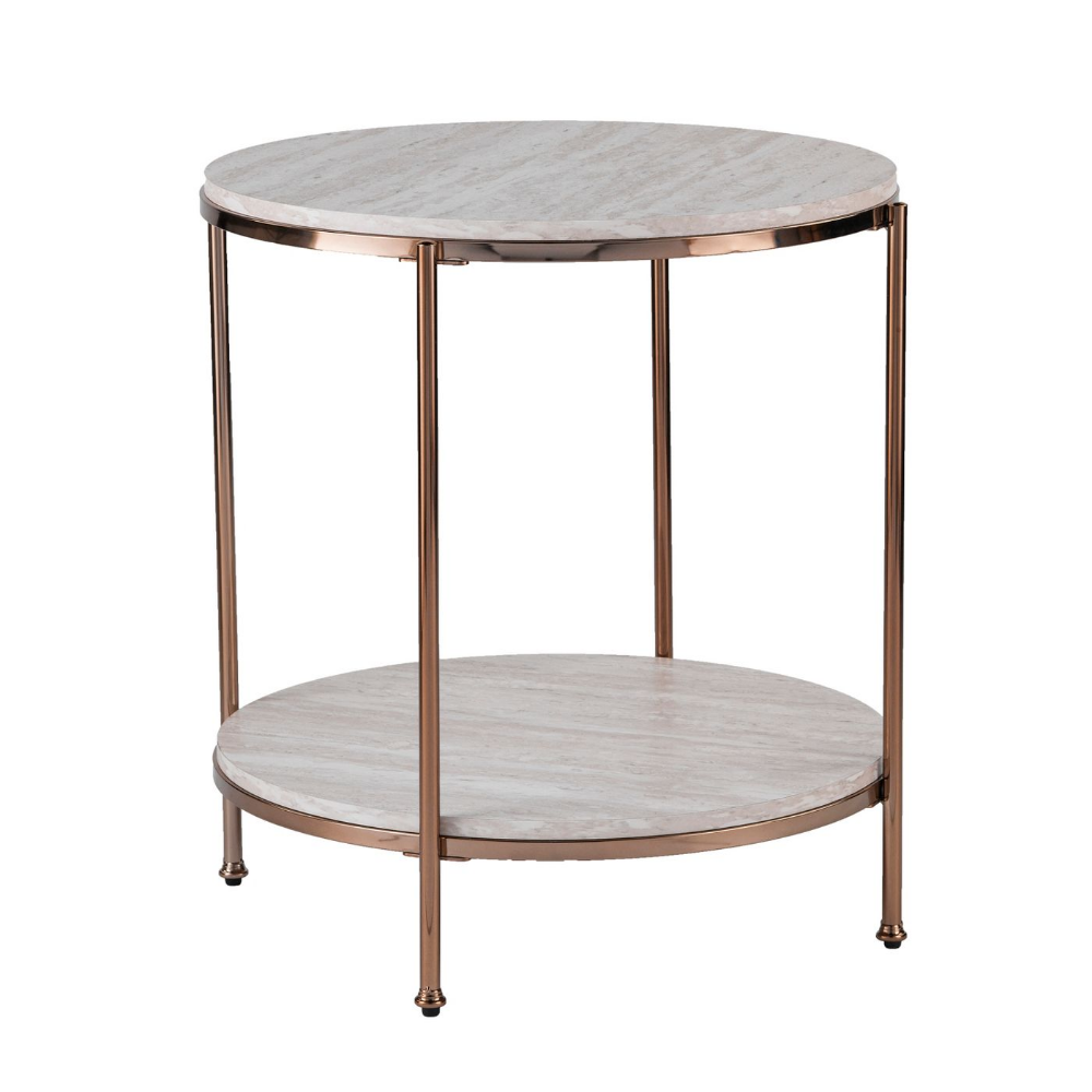 Sula Round Faux Stone End Table Aiden Lane Modern Furniture Living Room End Tables Furniture [ 1000 x 1000 Pixel ]