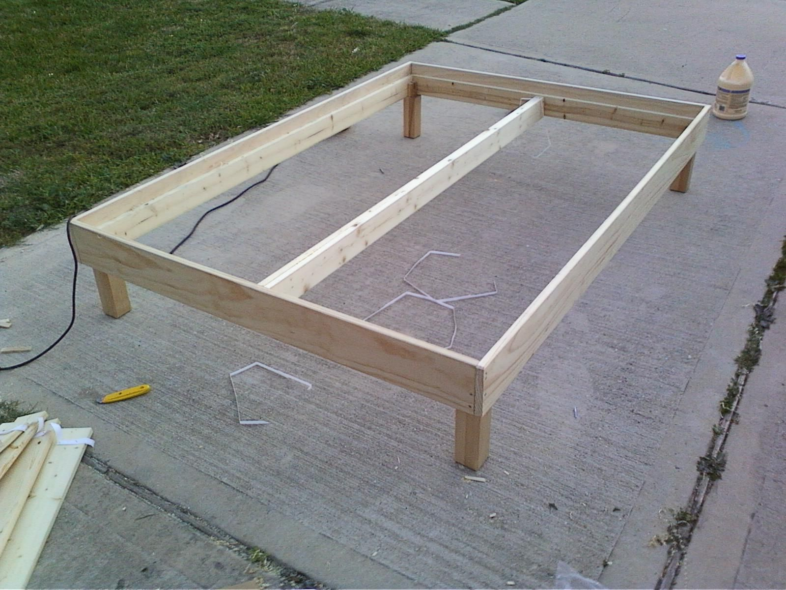 Bed Frame   He Said It Cost $150 In Materials But That Seems High