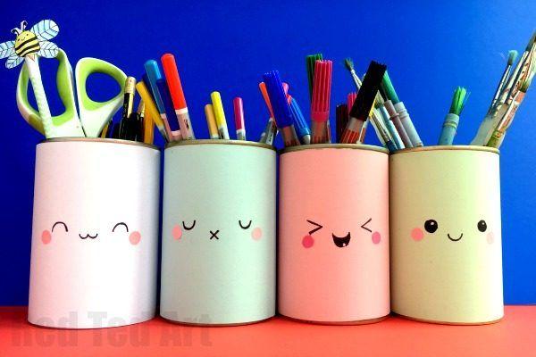 Kawaii Pencil Holder Diy Idea Crafts For Preteens And Teens Diy