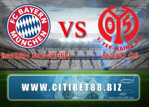 Prediksi Bayern Munchen vs Mainz 05 22 April 2017