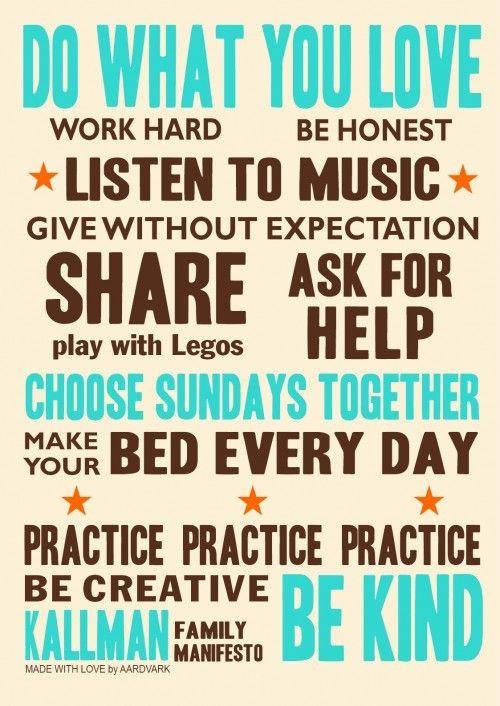 family manifesto idea