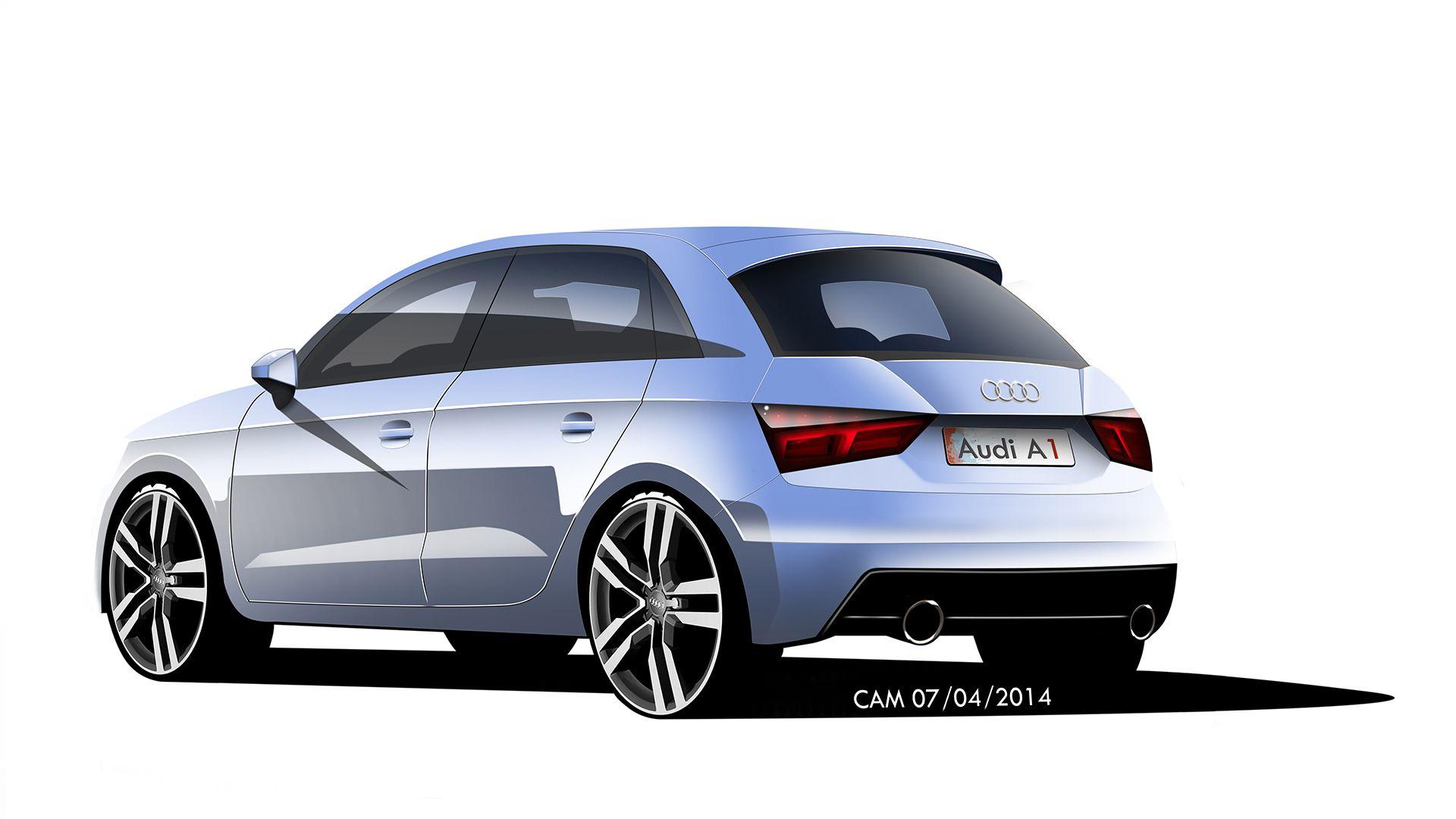 Audi A1 Facelift Automotive Design Car Sketch Car
