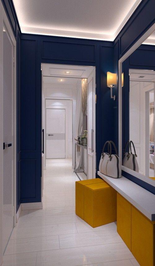 холлкоридорприхожая дизайн интерьера синий коридор дизайн